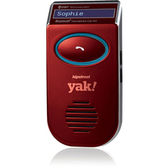 Hip Street yak! Wireless Bluetooth Car Hands-free Kit - LCD Display - Solar Charging, Caller ID, Echo Reduction, Noise Cancellation, Redial, Voice Dial, Call Sw