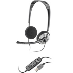 Plantronics .Audio 478 Headset - Stereo - Black - USB - Wired - Over-the-head - Binaural - Semi-open - Noise Cancelling Microphone