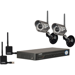 Lorex LH118501C4W Video Surveillance System - 4 x Digital Video Recorder, Camera, Receiver - H.264 Formats - 500 GB Hard Drive