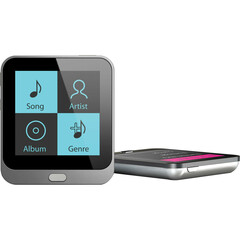 Coby MP800-4G 4 GB Black Flash Portable Media Player - Audio Player, Photo Viewer, Video Player, FM Tuner - 1.4