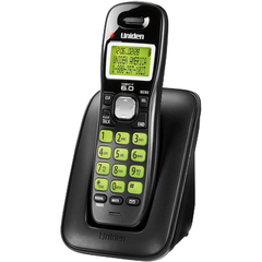 Uniden Cordless Phone - DECT - Black - 1 x Phone Line - Caller ID - Speakerphone - Backlight