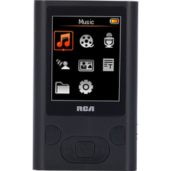 RCA M5504 4 GB Black Flash Portable Media Player - Audio Player, Photo Viewer, Video Player, Voice Recorder - 1.8