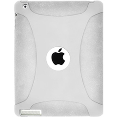 Amzer Silicone Skin Jelly Case - Transparent White For The new iPad - iPad - Transparent White - Silicone