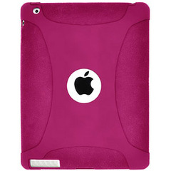 Amzer Silicone Skin Jelly Case - Hot Pink For The new iPad - iPad - Hot Pink - Silicone