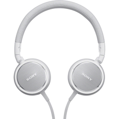 Sony ZX Series Stereo Headphone - Stereo - White - Mini-phone - Wired - 40 Ohm - 6 Hz 25 kHz - Gold Plated - Over-the-head - Binaural - Ear-cup - 3.94 ft Cable