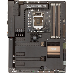 Asus The Ultimate Force SABERTOOTH Z77 Desktop Motherboard - Intel Z77 Express Chipset - Socket H2 LGA-1155 - ATX - 1 x Processor Support - 32 GB DDR3 SDRAM Max
