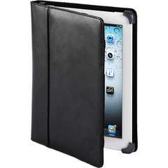 Cyber Acoustics Cover Case (Cover) for iPad - Black - Leather