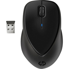 HP Comfort Grip Wireless Mouse - Wireless - Radio Frequency - Black - USB - Scroll Wheel