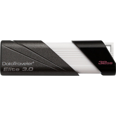 Kingston DataTraveler Elite 32 GB USB 2.0 Flash Drive - White, Black, Graphite - 1 Pack - External