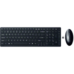 Sony VAIO Wireless Keyboard & Mouse - USB Wireless RF Keyboard - Black - USB Wireless RF Mouse - Laser - 2 Button - Scroll Wheel - Black