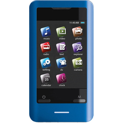 Coby MP828 8 GB Blue Flash Portable Media Player - Audio Player, Photo Viewer, Video Player, Camera, FM Tuner - 2.8