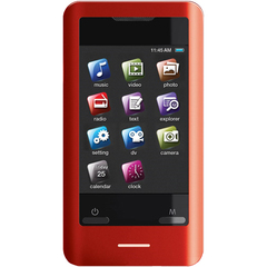 Coby MP828 8 GB Red Flash Portable Media Player - Audio Player, Photo Viewer, Video Player, Camera, FM Tuner - 2.8