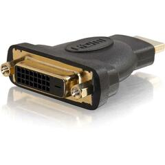 C2G Velocity DVI-D Female to HDMI Male Inline Adapter - 1 x DVI-D Female Digital Video - 1 x HDMI Male Digital Audio/Video - Gold-plated Contacts - Black