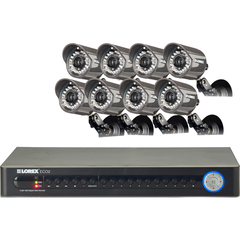 Lorex ECO2 16 Channel Wired DVR Security Camera System - 8 x Digital Video Recorder, Camera - H.264 Formats - 1 TB Hard Drive