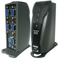 StarTech.com 4 Port Tower Style PS/2 KVM Switch Kit with Cables - 4 x 1 - 4 x HD-15