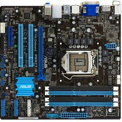 Asus P8Q77-M/CSM Desktop Motherboard - Intel Q77 Express Chipset - Socket H2 LGA-1155 - Micro ATX - 1 x Processor Support - 32 GB DDR3 SDRAM Maximum RAM - Seria