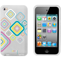 Luardi Silicone Cube Case for iPod Touch White - iPod - White - Embossed Luardi Pattern - Silicone