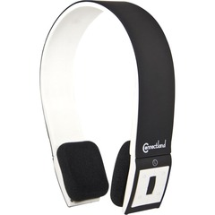SYBA Multimedia Bluetooth Wireless Headset with Microphone - Stereo - Black, White - Wireless - Bluetooth - 32.8 ft - Over-the-head - Binaural - Semi-open
