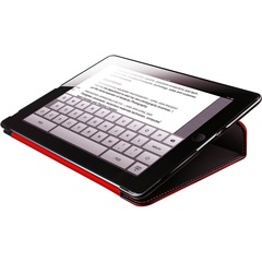 HornetTek Tai Chi Cover Case (Cover) for iPad - Black, Red - Textured - Leather