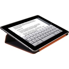 HornetTek Tai Chi Cover Case (Cover) for iPad - Black, Orange - Textured - Leather