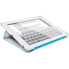 HornetTek Tai Chi Cover Case (Cover) for iPad - White, Blue - Textured - Leather