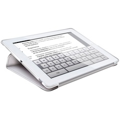 HornetTek Tai Chi Cover Case (Cover) for iPad - White, Gray - Textured - Leather