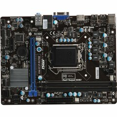 MSI H61M-E33/W8 Desktop Motherboard - Intel H61 (G3) Chipset - Socket H2 LGA-1155 - Micro ATX - 1 x Processor Support - 16 GB DDR3 SDRAM Maximum RAM - Serial AT
