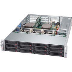 Supermicro SuperChasis SC826BE16-R920WB Blade Server Cabinet - Rack-mountable - Black - 2U - 12 x Bay - 3 x Fan - 920 W