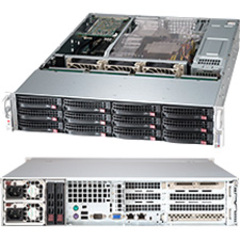 Supermicro SuperChasis SC826BE26-R1K28WB Blade Server Cabinet - Rack-mountable - Black - 2U - 12 x Bay - 3 x Fan - 1.28 kW