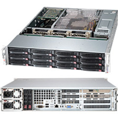 Supermicro SuperChasis SC826 Blade Server Cabinet - Rack-mountable - Black - 2U - 12 x Bay - 3 x Fan - 920 W