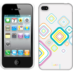 Luardi Silicone Cube Case for iPhone 4/4S White - iPhone - White - Cube Pattern - Silicone