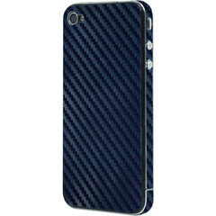 Luardi Carbon fiber Skin for iPhone 4 Blue - iPhone - Blue - Vinyl