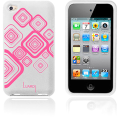 Luardi Silicone Pattern Case for iPod Touch White/Pink - iPod - White, Pink - Pink Pattern - Silky - Silicone