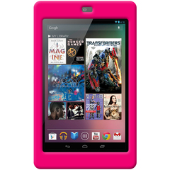 Amzer Silicone Skin Jelly Case - Hot Pink - Tablet PC - Hot Pink - Silicone