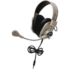 Califone Deluxe Stereo Headset with To Go Plug - Stereo - Black - Mini-phone - Wired - 300 Ohm - 20 Hz - 20 kHz - Nickel Plated - Over-the-head - Binaural - Ear