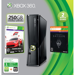 Microsoft Xbox 360 Limited Edition Action and Adventure Bundle - With Game Pad - Wireless - Black - ATI Xenos - 1920 x 1080 - 16:9 - 1080p - Dolby Digital - DVD