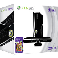 Microsoft Xbox 360 Limited Edition Kinect Holiday Bundle - With Game Pad, Kinect - Wireless - Black - ATI Xenos - 1920 x 1080 - 16:9 - 1080p - Dolby Digital - D