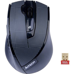 Azend Pinpoint Optic Wireless Multi Mode USB Mouse - Optical - Wireless - Radio Frequency - Black Plaid - USB - 2000 dpi - Scroll Wheel - 7 Button(s) - Right-ha