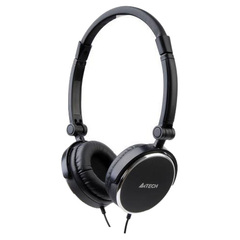 Azend Foldable Headset (Black) - Stereo - Black - Mini-phone - Wired - 32 Ohm - 20 Hz - 20 kHz - Over-the-head - Binaural - Ear-cup - 5.91 ft Cable