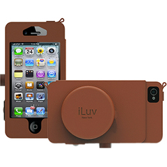 iLuv iCA7J344 - Premium Leather-Look Case with Storage Pocket for iPhone 5 - iPhone - Tan - Synthetic Leather, Microsuede