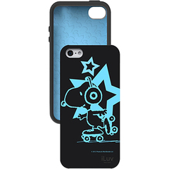 iLuv iCA7T381 - Glow-in-the-dark Case for iPhone 5 - iPhone - Black - Snoopy - Silicone