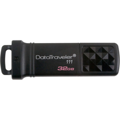 Kingston DataTraveler 111 32 GB USB 3.0 Flash Drive - Black - 1 Pack - External
