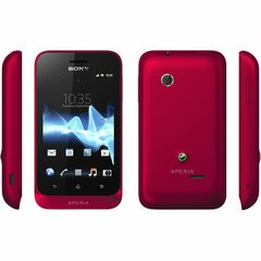 Sony Mobile Xperia tipo Smartphone - Wi-Fi - 3G - Bar - Red - SIM-free - Android 4.0 Ice Cream Sandwich - 3.2
