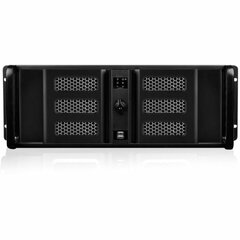 iStarUSA 4U Compact Stylish Rackmount Chassis - Rack-mountable - Black - Aluminum, Steel - 4U - 7 x Bay - 2 x Fan