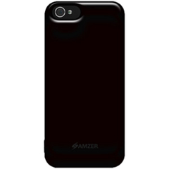 Amzer Soft Gel TPU Gloss Skin Case - Black For iPhone 5 - iPhone - Black - Glossy - Silicone, Thermoplastic Polyurethane (TPU)