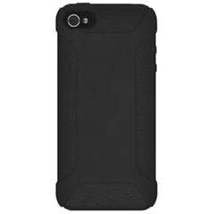Amzer Silicone Skin Jelly Case - Black For iPhone 5 - iPhone - Black - Textured - Silicone