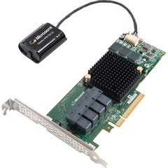 Adaptec 71605Q 16-Ports SAS/SATA RAID Controller - Serial Attached SCSI (SAS) - PCI Express 3.0 x8 - Plug-in Card - RAID Supported - 0, 1, 1E, 5, 6, 10, 50, 60