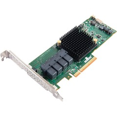 Adaptec 71605E 16-Ports SAS/SATA RAID Controller - Serial Attached SCSI (SAS) - PCI Express 3.0 x8 - Plug-in Card - RAID Supported - 0, 1, 1E, 10 RAID Level - 2