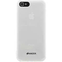 Amzer Soft Gel TPU Gloss Skin Case - Clear For iPhone 5 - iPhone - Clear - Glossy - Silicone, Thermoplastic Polyurethane (TPU), Gel