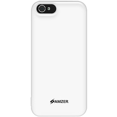 Amzer Soft Gel TPU Gloss Skin Case - White For iPhone 5 - iPhone - White - Glossy - Thermoplastic Polyurethane (TPU), Silicone